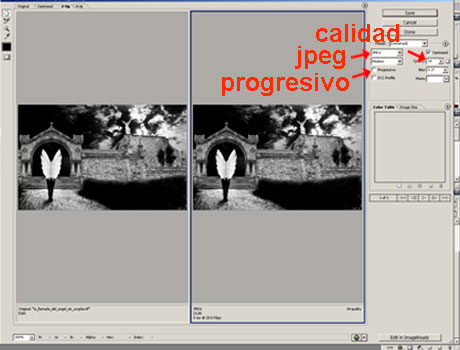 tutorial de photoshop :: guardar para web