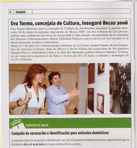 Exposición :: Becas de creatividad 2006 en 7días