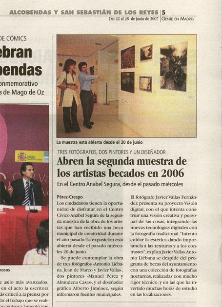 Exposición: Becas de creatividad 2006