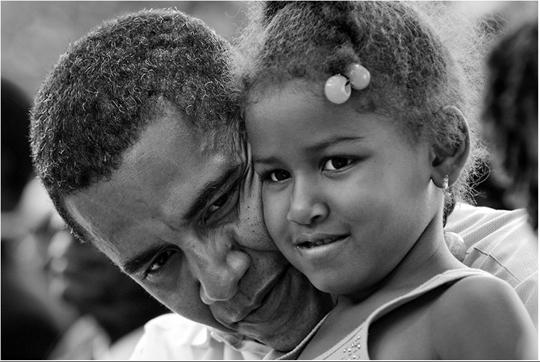 LaLumiere - Fotografía donde se ve a Barack Obama con su hija realizada Por Pete Souza