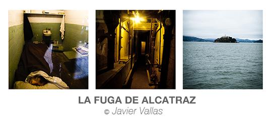 Triptico de fotografía realizadas en la isla de Alcatraz en San Francisco (California) simulando la famosa fuga