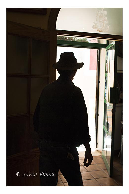 Fotografía de una silueta del lejano oeste, por Javier Vallas